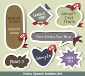 stock photo of flashers  - Set of vector bubbles and flasher - JPG