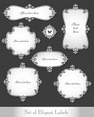 Vector set of elegant vintage labels