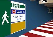 Exit from underground parking