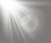 Sunlight A Translucent Special Design Of The Light Effect. Vector Blur In The Light Of Radiance. Iso poster