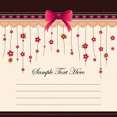 Cute flower memo template