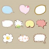 Cute speech bubbles vector 02