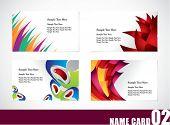 Name card template set 02