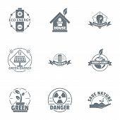 Environmental Logo Set. Simple Set Of 9 Environmental Logo For Web Isolated On White Background poster