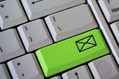 Clave de correo verde