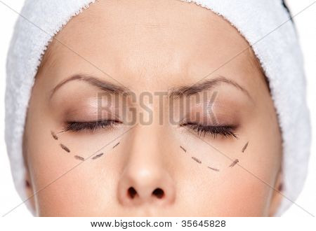 poster of Facelift, isolated, white background, close up