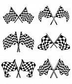 Checkered Flags Set