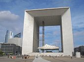 La Defense Big Arch In Paris