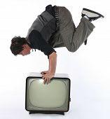 Media Tv Stunt Concept