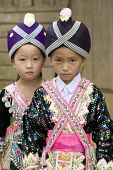 foto of hmong  - Laos Hmong girl in traditional clothes in the surroundings of Luang Prabang - JPG