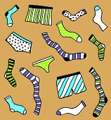 foto of brothel  - Cute hand drawn underwear pattern - JPG
