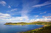 view on Uig harbour and village, Isle of Skye, Trotternish peninsula, Scotland