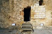 Garden Tomb in Jerusalem, Israel. The tomb is believed by some Christians to be the burial and resur