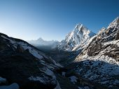 picture of cho-cho  - Cho La pass and snowed peaks at dawn in Himalayas - JPG