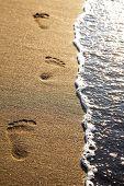 Steps On A Beach