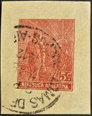 A stamp printed in Argentina dedicated to agriculture