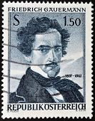 AUSTRIA - CIRCA 1964: A stamp printed in Austria shows Friedrich Gauermann circa 1964