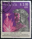ECUADOR - CIRCA 1965: A stamp printed in Ecuador shows Dante circa 1965