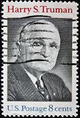 Usa - Circa 1973 : A Stamp Printed In Usa Shows Harry S.truman Portrait