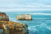 stock photo of razorback  - One of the famous rocks in the Bay of Islands Coastal ParkGreat Ocean Road Australia - JPG