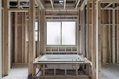 picture of master bedroom  - Installation of Soaking Bathtub in Master Bedroom Suite of New Home Construction - JPG