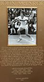 John McEnroe plaque at US Open Court of Champions at Billie Jean King National Tennis Center