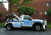 NYPD tow truck in Brooklyn, NY