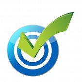 Target Checkmark Illustration Design