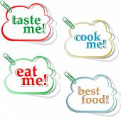 stock photo of eat me  - Eat me taste me and cook me stickers - JPG