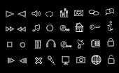 Media And Web Icons (for Black Background)