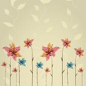 Primavera ou verão flor greeting card