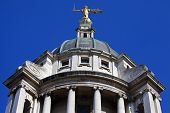 image of bailey  - Looking up at the Lady Justice statue ontop of the Old Bailey in London - JPG