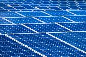 Solar batteries background