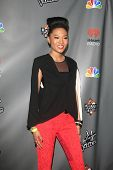 WEST HOLLYWOOD, CA - MAY 8:  Judith Hill at the NBC's 'The Voice' Season 4 Red Carpet Event at the H