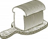 Woodcut Loaf Of Bread