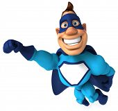picture of animated cartoon  - Fun superhero - JPG