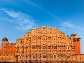 Famous Rajasthan landmark - Hawa Mahal palace (Palace of the Winds), Jaipur, Rajasthan