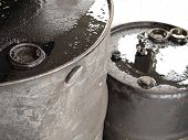 Two Oil Barrels Closeup