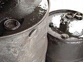 Two Oil Barrels Closeup