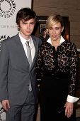 LOS ANGELES - MAY 10:  Freddie Highmore and Vera Farmiga arrive at the