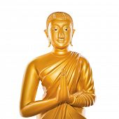 Buddha statue isolated on white