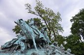 Ulysses S. Grant Kavallerie Memorial am US-Kapitol in Washington D.C.