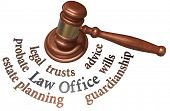 pic of court hammer  - Gavel with legal concepts of estate planning probate wills attorney - JPG