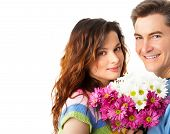 pic of loving_couple  - Young love couple smiling - JPG