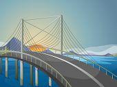 Illustration of a long bridge