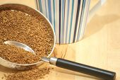 Coffee Granules, Spoon And Cup