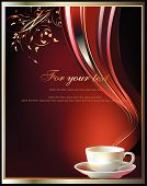 background for cup of tea or coffee