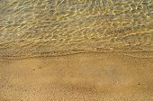 Golden Sand And Sea Surface