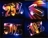 sale reduction neon background