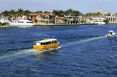 Water Taxi And Boats On The Intracoastal